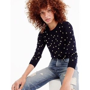 J. Crew Tippi Embroidered Star Sweater